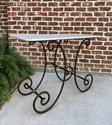Antique French Country Bakerand039s Table Pastry Sofa Table Kitchen Island Iron Base