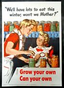Rare Original Issue Wwii 1943 Grow Your Own Can Your Own Home Front Poster