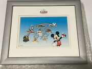 New Walt Disney World 2001 Framed Mickey Mouse Pin Trading Set Pins Le 500