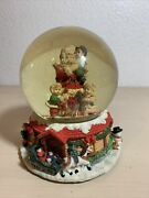 Musical 'santa Claus Is Coming To Town' Large Snow Globe