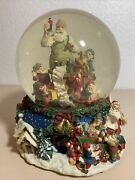 Musical 'santa Claus Is Coming To Town' Large Snow Globe With Rotating Base