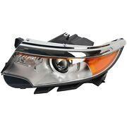Left Driver Side Front Headlamp New Headlight W/ Bulb For 2011-2014 Ford Edge
