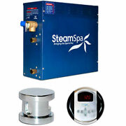 New Steam Generator Package 9kw Polished Chrome