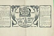 C1913 Ad And Directions For Henke Marine Bronze Anti-fouling Boat Bottom Paint