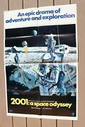 2001 A Space Odyssey Original 1968 Poster 1 Sh, Style B, 70mm Version 27 X 41