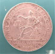 France-1712-seated Justice With Scale  -silver Jeton- Very Rare
