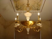 Amazing Mid Century Attributed To Van Teal Big Geometric Frost Lucite Chandelier