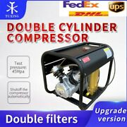4500psi Double Cylinder Pcp High Pressure Air Compressor+double Filter Auto-stop