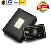 American Express Amex Customized Centurion Black Card Embossed With Stripe+chip