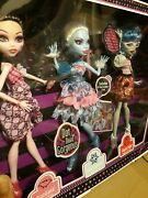 2012 Monster High Dot Dead Gorgeous 3 Doll Pack Draculara, Abbey, Ghoulia🖤☠💜