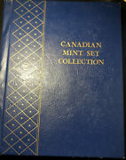 Whitman 9515 Canadian Mint Set Collection Coin Album Filled W/8 Sets 1971-1978