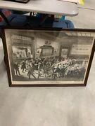 Rare Rare Vintage Aandp Grocery Store Coffee Advertising Litho Sign