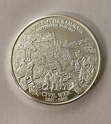 Battle Of Chickamauga Civil War Proof History Channel Silver Copper Coin