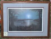 Jesse Barnes 1991 Signed And Numbered Print Night On The Mississippi 777/2800