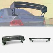 For Mitsubishi Evo 7 8 9 Type 5v Evo Carbon Rear Trunk Gt Spoilers Wing 1400mm