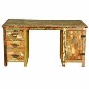 Reclaimed Wood Study Desk Table Furniture Home Decor