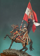 Polish Winged Hussar 1670 Tin Painted Toy Miniature Pre-sale   Art