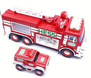 2005 Hess Toy Emergency Fire Emt Ladder Truck With Rescue Vehicle Holiday