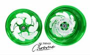 Hayabusa 360 Fat Tire Green Contrast Shredder Wheels 1999-2007 Suzuki Hayabusa