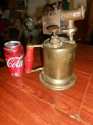 Vtg Turner Brass Plumbers Torch Model 206a Complete