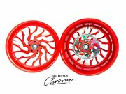Hayabusa Stock Size Candy Red Hellian Wheels 1999-2007 Suzuki Hayabusa