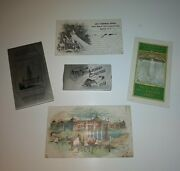 Antique 1901 Pan-american Expo Collectibles Holder Card Advertising Label 5 Pcs