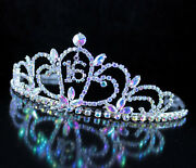 Sweet Sixteen 16th Tiara Crown Hair Comb Birthday Party Cake Topper T1722ab