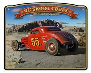 Classic Hot Rod Race 1933 Ol' Skool Coupe Metal Sign Man Cave Garage Body Shop A