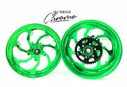 Gsxr 330 Fat Tire Candy Green Samurai Wheels 08-20 Suzuki Gsxr 600 750