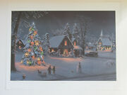 Jesse Barnes 1992 Signed And Numbered Print And Coa O Christmas Tree 28/2800