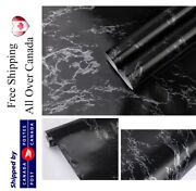 Black Marbel Wallpaper Peel And Stick Removable Contact Paper Selfadhesive Vinyl