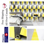 Yellow Gray Wallpaper Peel And Stick Removable Contact Paper Selfadhesive Vinyl