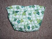 Longaberger Liner In Lots Of Luck Fabric, Fits The 2009 Lucky Wish Basket.new