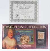 Martha Washington First Spouse Collection Bronze Medal And Stamp C3781