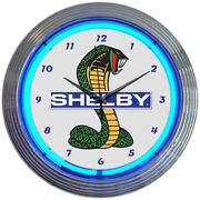 Shelby Car Neon Clock Gas And Oil / Shelby Neon / Garage Clocks / Gifts For Men