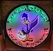 38in Plymouth Roadrunner Neon Sign Gas And Oil Freight Shipping Available