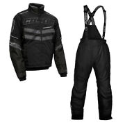 Castle Xandtrade Epic Strike Insulated Black Ops Menand039s Snowmobile Suit Jacket And Bibs