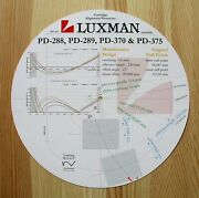 Luxman Pd-288 / Pd-289 / Pd-370 And Pd-375 Tonearm Cartridge Alignment Protractor