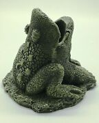 Frog Candlestick Holder And/or Incense Burner New Jolly Giant Statuaries Toad