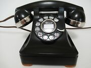 Antique Western Electric Telephone Chrome Banded 302 Metal Restored Working