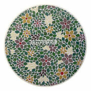 42 Marble Breakfast Table Top Malachite Inlay Floral Living Room Decor H4011c