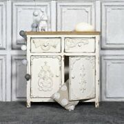 Handicraft Wood Antique Side Board Distress White For Home Office Furniture