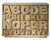 Handicraft Wood Alphabet Chest Of 18 Drawers Brown For Home Office Furniture