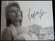 8x10 Photograph Sophia Loren Autograph Psa Dna Certified Signed Sexy Young Model