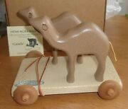 2000 Gerald Henn Wooden Noahand039s Ark Camels Pull Toy W/box And Coa Tag