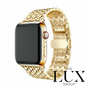 24k Gold Series 6 Apple Watch 44mm With 24k Gold Link Bracelet New Rare Lte