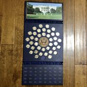 United States Of America Presidential Dollars Folder - 39 1 Coins Included
