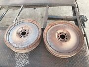 Pair 20andrdquo Mopar Steel Wheels From 1930andrsquos