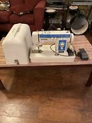 Vintage New Home Sewing Machine Model 11183 W/ Pedal And Cover