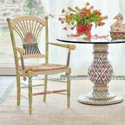 Mackenzie Childs Light Flower Basket Arm Chair - Armchair Free Delivery